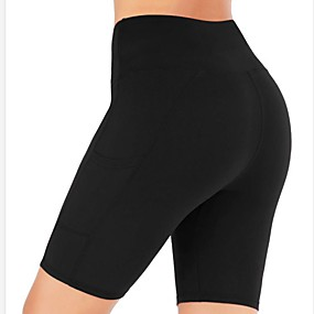 cheap -Women's Sporty Yoga Breathable Slim Daily Shorts Pants Leopard Camouflage Knee Length High Waist Black Red Army Green