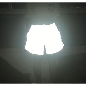 cheap -Women's Basic Breathable Loose Daily Shorts Pants Solid Colored Short Luminous Silver Gray