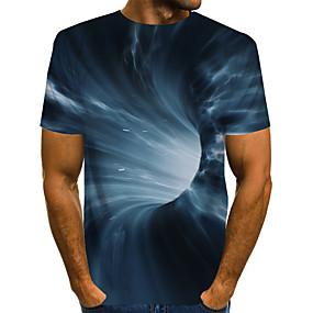 preiswerte -Herren T-Shirt 3D-Druck Grafik 3D-Druck Druck Kurzarm Alltag Oberteile Grundlegend Übertrieben Schwarz