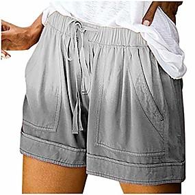 preiswerte -Damen Shorts American Flag / Krawatte Dye Print bequeme Kordelzug lässig elastische Taille Tasche Hose - Limsea
