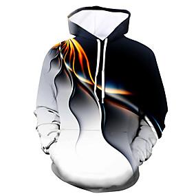preiswerte -Herren Pullover Hoodie Sweatshirt Grafik Abstrakt Mit Kapuze Ausgehen Klub 3D-Druck Halloween Party Kapuzenpullover Sweatshirts Langarm Weiß