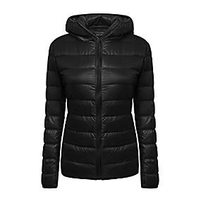 cheap -women's lightweight packable hooded coat outwear puffer down jacket (s, white)