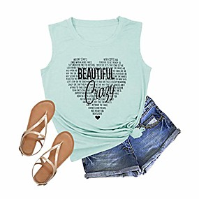 cheap -beautiful crazy country music tank tops women concert funny letter printed graphic casual tee shirts green