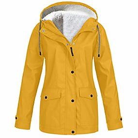 cheap -Women's Jacket Solid Color Sporty Long Sleeve Coat Spring &  Fall Sport Regular Jacket Light Pink / V Neck / Plus Size