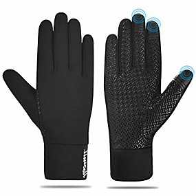 cheap -touch screen winter running gloves for women men, lightweight warm gloves outdoor sports hiking climbing cycling driving windproof thin gloves for early spring or fall winter