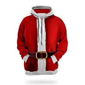 preiswerte -Herren Pullover Hoodie Sweatshirt Grafik 3D Hässliche Weihnachten Mit Kapuze Weihnachten Alltag 3D-Druck 3D-Druck Weihnachten Kapuzenpullover Sweatshirts Langarm Rote