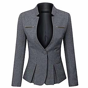 cheap -women's formal business work 1 button office blazer jacket suit