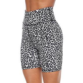 cheap -Women's Sporty Comfort Skinny Gym Yoga Shorts Pants Leopard Camouflage Short Print High Waist Black Blue Dark Gray