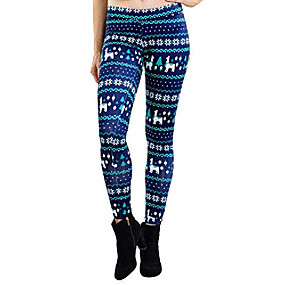 cheap -women's fa la la llama leggings - cute llama christmas leggings: s