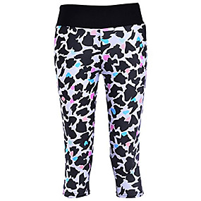 cheap -women's digital printed workout running capri pants crop leggings animal shadow us xxs/asian s
