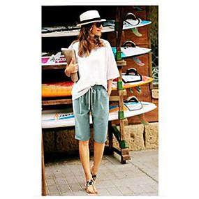 cheap -women's summer casual solid bermuda shorts knee length beach shorts