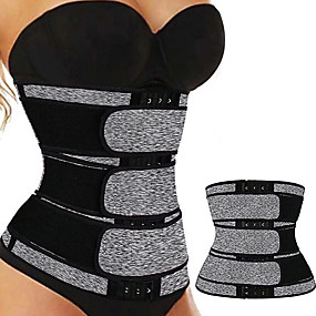 cheap -Body Shaper Sweat Waist Trimmer Sweat Waist Trainer Corset Sports Neoprene Yoga Gym Workout Pilates Adjustable Durable Weight Loss Tummy Fat Burner Hot Sweat For Women