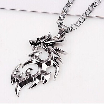 cheap Men's Jewelry-Pendant Necklace Dragon Asian Unique Design Fashion Titanium Steel Alloy Silver Necklace Jewelry 1pc For Christmas Gifts Wedding Party Gift Casual Daily