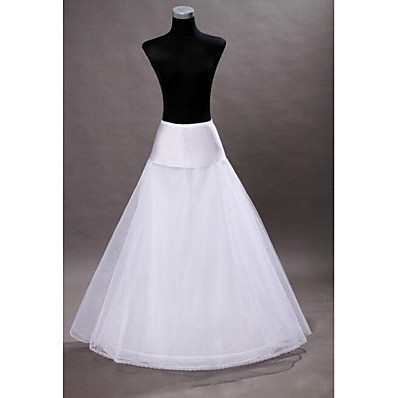 cheap Wedding Accessories-Wedding Slips Floor-length A-Line Slip With Wedding Accessories