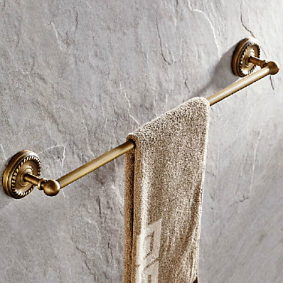 cheap Bathroom Products-Towel Bar Antique Brass Single Bathroom Rod New Design Wall Mounted 60*7.5CM 1 pc