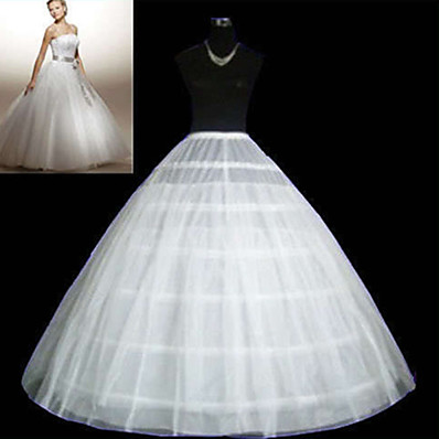 cheap Wedding Accessories-Wedding / Special Occasion / Party / Evening Slips Tulle Floor-length Ball Gown Slip / Classic & Timeless with