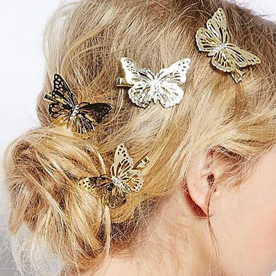 cheap Accessories-Women's Hairpins For Daily Flower Alloy Golden