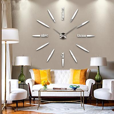 cheap Wall Clocks-Modern Contemporary Metal Houses / Family AA Decoration Wall Clock Analog No 120*120