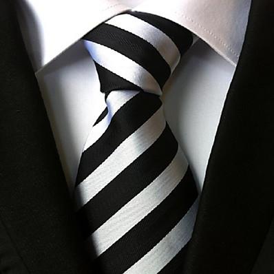 cheap Men's Jewelry-Work / Basic / Party Men's Necktie Striped, Classic