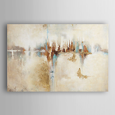 cheap Wall Art-Oil Painting Hand Painted Abstract Modern Stretched Canvas With Stretched Frame