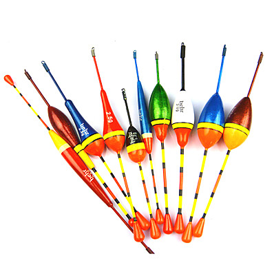 cheap Fishing-Anmuka 10pcs Lots Fishing Lure Floats Bobbers Slip Drift Tube Indicator Assorted Sizes w51007