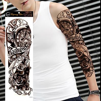 cheap Tattoos & Body Art-1 pcs Temporary Tattoos Waterproof / Non Toxic / Large Size Body / Shoulder / Leg Paper Tattoo Stickers