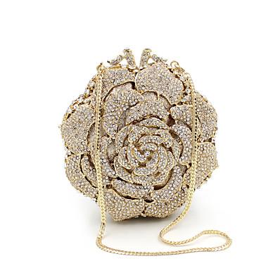 preiswerte Taschen-Damen Taschen Metall Unterarmtasche Abendtasche Kristall Verzierung Strass Party Hochzeit Hochzeitstaschen Handtaschen Umhängetasche Gold