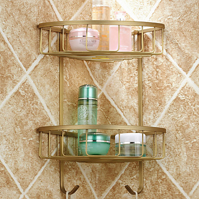 cheap Bathroom Products-Bathroom Shelf Antique Brass Hotel bath / Matte Brass