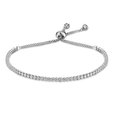 cheap Women's Jewelry-Women's Chain Bracelet Tennis Bracelet Drop Ladies Natural Sterling Silver Bracelet Jewelry Gold / Silver For Gift Valentine
