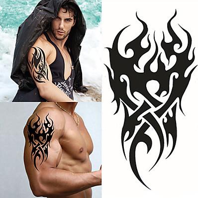 cheap Tattoos & Body Art-1 pcs Temporary Tattoos Waterproof / 3D brachium / Chest Paper Tattoo Stickers