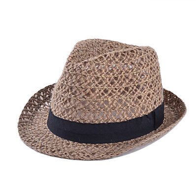 cheap ACCESSORIES-Women's Vintage Straw Straw Hat-Solid Colored Summer Khaki