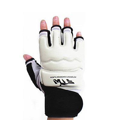 cheap Boxing & Martial Arts-Boxing Gloves For Boxing Fingerless Gloves Protective PU(Polyurethane) White