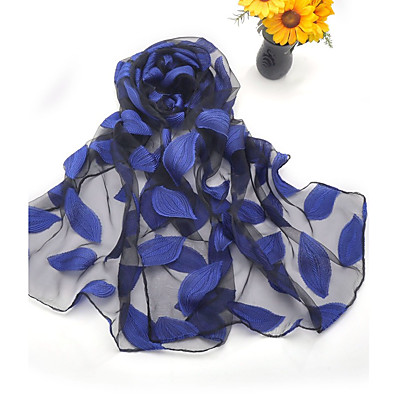 cheap Scarves & Bandanas-Women's Women's Shawls & Wraps Wine Street Scarf Florals / Party / Silk / Cute / Green / Fall
