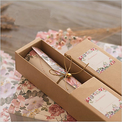 ADOR Scroll Wedding Invitations 10 - Others Invitation Cards Classic Material High Quality Paper 100% virgin pulp Flower