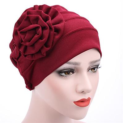 cheap Women's Jewelry-Women's Beanie / Slouchy Flower Street Dailywear Casual Wine Black Pure Color Hat / Khaki / Fall / Winter / Spring