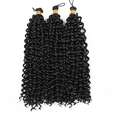 cheap Hair Extensions-Crochet Hair Braids Deep Curly Box Braids Synthetic Hair Braiding Hair 1pc / pack 15 Roots