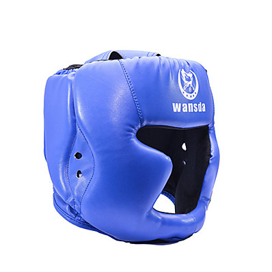 cheap Boxing & Martial Arts-Boxing Helmet Helmet Sports PU Leather Taekwondo Boxing Exercise & Fitness Shock Resistant Breathable Adjustable Fit Protective For Men's