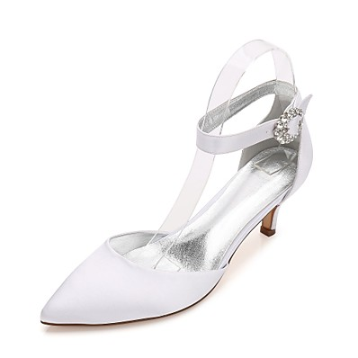 7a97abc59 ADOR® Women's Shoes Satin Spring / Summer Comfort / Mary Jane / D'Orsay &  Two-Piece Wedding Shoes Kitten Heel / Cone Heel / Low Heel Pointed Toe