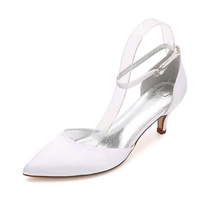 6831732d2 ADOR® Women's Wedding Shoes Comfort D'Orsay & Two-Piece Basic Pump Ankle  Strap Spring Summer Satin Wedding Dress Party & Evening Rhinestone