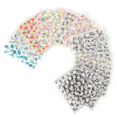 cheap Nail Care & Polish-30-pcs-sheets-nail-art-transfer-stickers-3d-design-manicure-tips-decal-decorations-high-quality-hot-selling