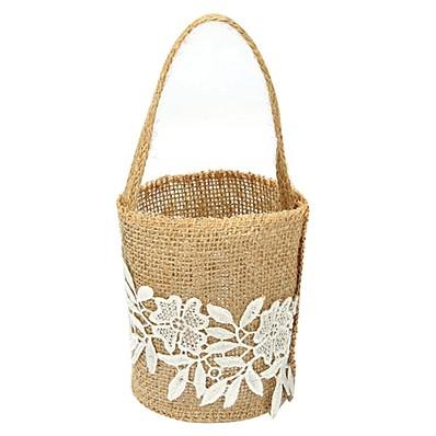 f16fad322 cheap Wedding Ceremony-ADOR Flower Basket Linen 9 7 8 quot  (25 cm