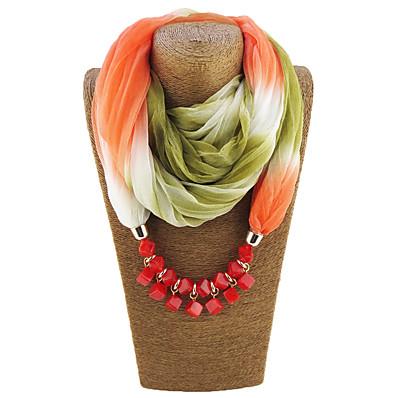 billige Scarves & Bandanas-Dame Uendelighetshalstørklæ Regnbue Trykt mønster