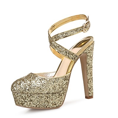 90829cc771d1 ADOR® Women s Shoes Sparkling Glitter   Paillette   Synthetic Microfiber PU  Spring   Fall Slingback Heels Stiletto Heel Round Toe Sequin Gold