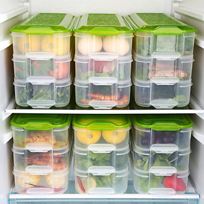 cheap Kitchen & Dining-3 layer crisper kitchen storage box refrigerator frozen food storage box household storage container lid egg box