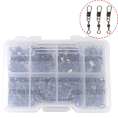 cheap Fishing-140 pcs Fishing Tackle Box Fishing Snaps & Swivels Steel Stainless Easy to Use Jigging Sea Fishing Fly Fishing Bait Casting Fishing Removal Tools Fishing Outdoor Recreation Sporting Goods / Spinning