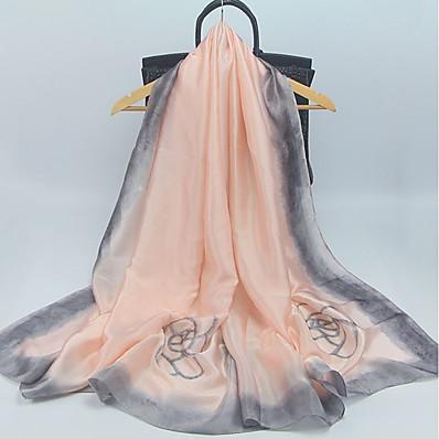 cheap Scarves & Bandanas-Women's Silk Rectangle Scarf - Floral Print