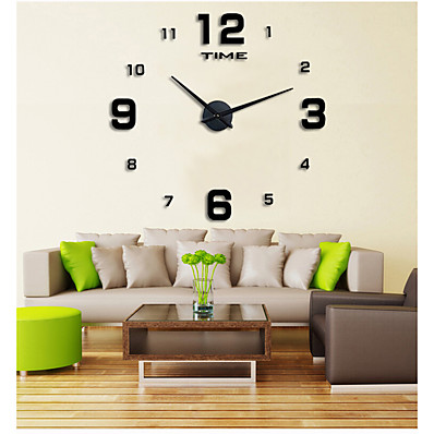 cheap Wall Clocks-Casual / Modern Contemporary / Office / Business Stainless Steel / EVA Round Garden Theme Indoor / Outdoor / Indoor AAA Decoration Wall Clock Digital Brushed Steel No 120*120cm