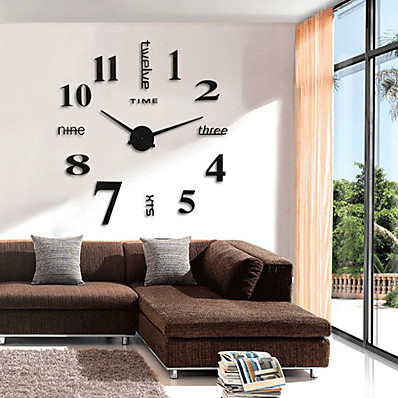 cheap Wall Clocks-Modern Contemporary / Retro Round Novelty / Characters / Holiday Indoor / Outdoor AA Decoration Wall Clock Analog Emboss No 100cm*100cm