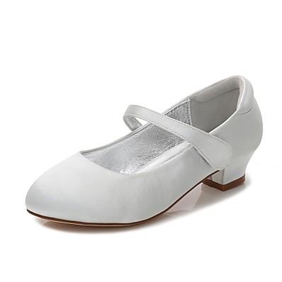 ADOR® Girls  Shoes Satin Spring   Fall Comfort   Ballerina   Ankle Strap  Heels Buckle   Hook   Loop for Blue   Champagne   Ivory   Wedding 725c98618ff0