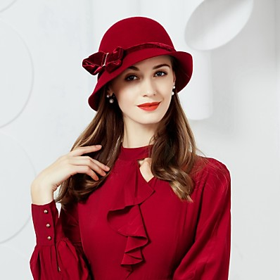 ADOR Wool   Velour Hats with 1 Wedding   Party   Evening Headpiece 44f960e6b97